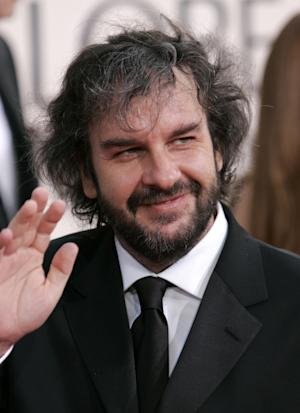 """FILE - In this Jan. 16, 2006 file photo, Director Peter Jackson arrives at the 63rd annual Golden Globe Awards, in Beverly Hills, Calif.   The cast members of """"The Hobbit"""",  directed by Jackson, on Friday, Feb. 11, 2011, declared themselves ready for the cameras to roll on the next edition of mythical adventures from Middle Earth, after months of production trouble.  (AP Photo/Mark J. Terrill, File)"""
