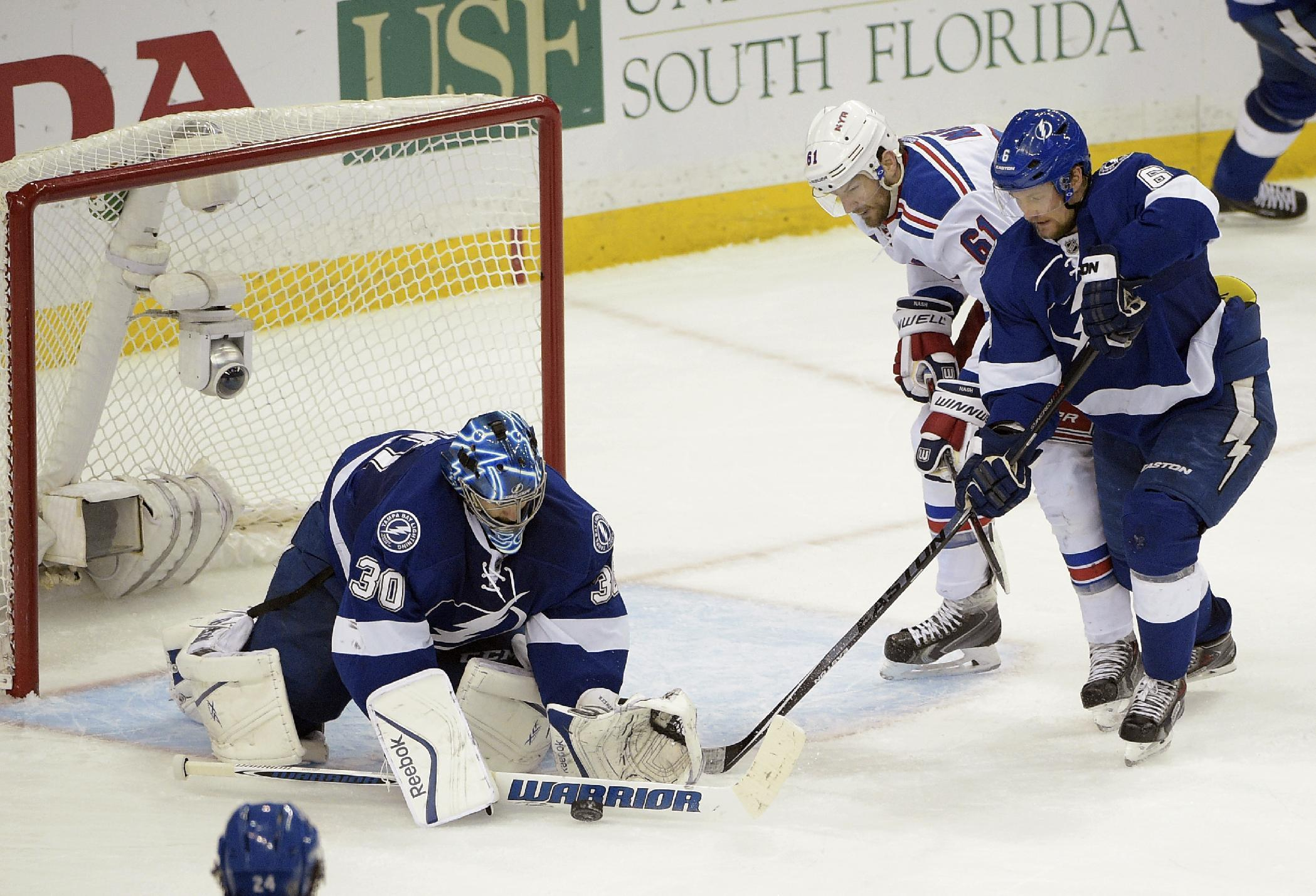 Lightning routed 7-3 by Rangers in Game 6
