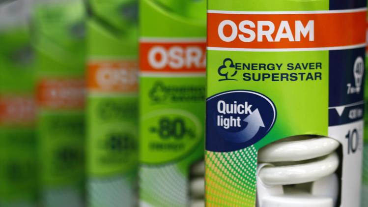 File photo of light bulbs of lamp manufacturer Osram