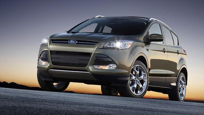 This undated product image provided by the Ford Motor Co. shows the 2013 Ford Escape.  (AP Photo/Ford Motor Co.)