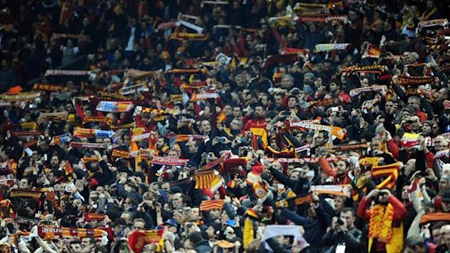 Galatasaray fans at the Champions League match against Real Madrid (AFP)
