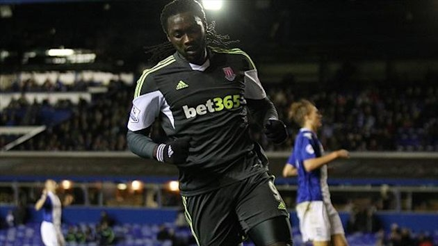 Kenwyne Jones celebrates scoring the fourth goal, but Birmingham would go on to force it to penalties