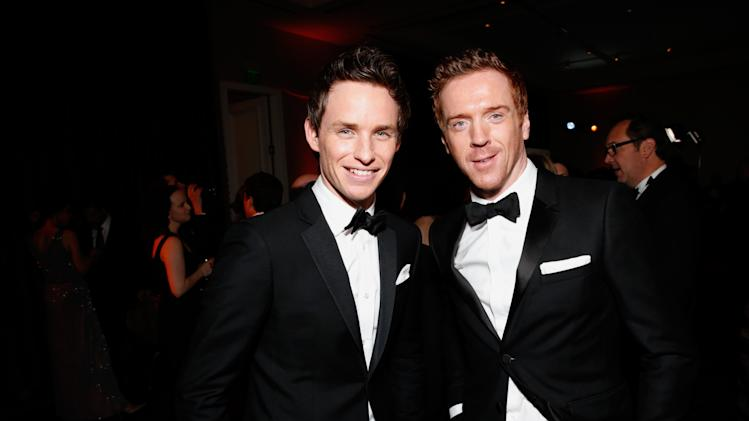 IMAGE DISTRIBUTED FOR THE PRODUCERS GUILD - Eddie Redmayne, left, and Damian Lewis pose during the cocktail reception at the 24th Annual Producers Guild (PGA) Awards at the Beverly Hilton Hotel on Saturday Jan. 26, 2013, in Beverly Hills, Calif. (Photo by Todd Williamson/Invision for The Producers Guild/AP Images)