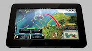 The Razer Edge tablet playing  'Civilization V'