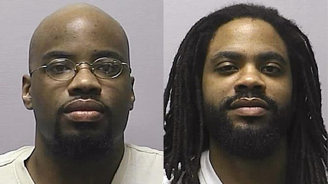 In this combination of 2013 photos provided by the Kansas Department of Corrections, is Reginald D. Carr, left, and Jonathan D. Carr. The Kansas Supreme Court on Friday, July 25, 2014 overturned the death sentences of the two brothers convicted of capital murder in a crime spree in Wichita in 2000 including robbery, rape, forced sex and four fatal shootings in a snow-covered soccer field. (AP Photo/Kansas Department of Corrections)
