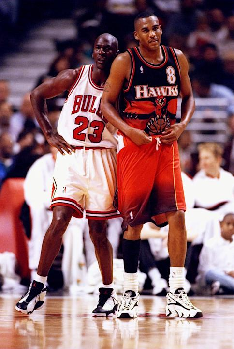 Steve Smith and Michael Jordan