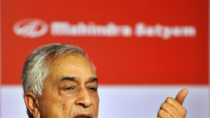 Vice chairman and managing director of Tech Mahindra Vineet Nayyar speaks during a press conference in Mumbai, India, Wednesday, March 21, 2012. India's Tech Mahindra said Wednesday it will take full ownership of its Satyam subsidiary, creating India's fifth largest outsourcing company. The enlarged company will have revenue of $2.4 billion and over 75,000 employees serving 350 clients in 54 countries. (AP Photo/Rajanish Kakade)