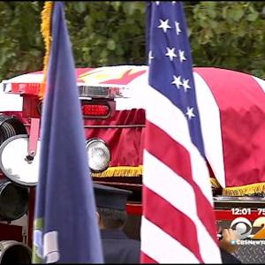 Thousands Line Streets For Funeral Of FDNY Lt. Gordon 'Matt' Ambelas