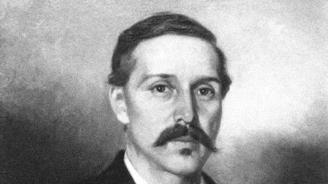 """FILE - This undated photo showing an oil painting released by the Silverado Museum collection shows Scottish novelist, poet, and essayist Robert Louis Stevenson, painted by French artist Ernest Narjot.  Stevenson is the author of """"Treasure Island"""" and """"Dr. Jekyll and Mr. Hyde,"""" some of the most thrilling stories in literary history. But he was often bored by the fiction of his day. Stevenson's criticisms appear in a brief, long-lost essay published this month in The Strand Magazine, a quarterly based in Birmingham, Mich. that specializes in the rediscovery of obscure texts by famous authors. (AP Photo/Silverado Museum, Ernest Narjot)"""