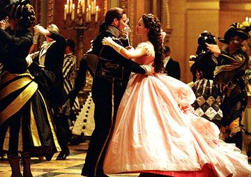 Patrick Wilson and Emmy Rossum in Warner Brothers' Andrew Lloyd Webber's The Phantom of the Opera