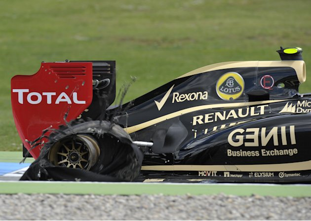 Lotus F1 Team's French driver Romain Gro