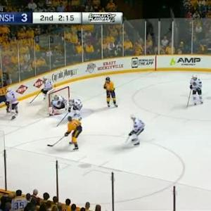 Brent Seabrook Hit on Mike Ribeiro (17:49/2nd)