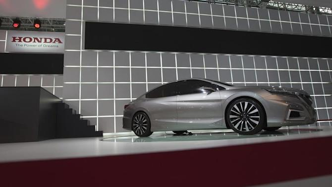 Honda's Concept C car is displayed at the media preview of the 10th China International Automobile Exhibition in Guangzhou