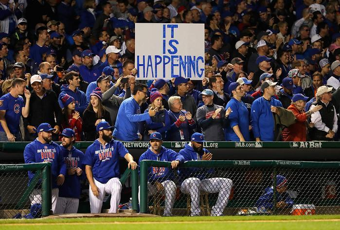 The Cubs are going to the World Series for the first time since 1945