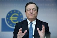 Mario Draghi, president of the European Central Bank, addresses a press conference in Frankfurt am Main, on August 2. The European Central Bank has broken new ground in the eurozone crisis with hints that it could start unlimited buying of stricken member states' bonds to drive down their crippling borrowing costs