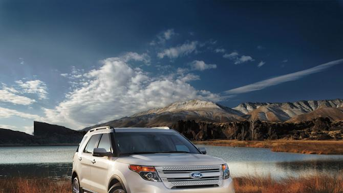 This undated photo provided by the Ford Motor Company shows the 2013 Ford Explorer. Ford said Friday, June 28, 2013, it is recalling just over 13,000 Explorer, Taurus and Lincoln MKS cars and SUVs because the child safety locks might not work on the rear doors. (AP Photo/Ford Motor Company)