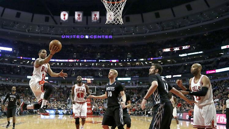 Love scores 31 as Timberwolves beat Bulls 95-86