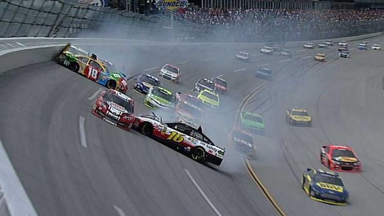 Big crash early at Talladega