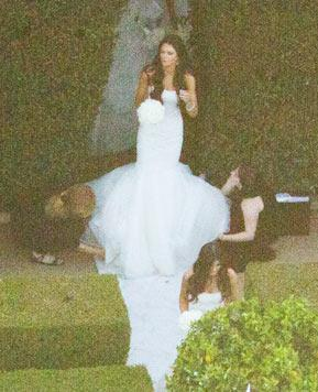 Kendall Jenner, 15, Wears Tight, Sexy Gown at Kim's Wedding
