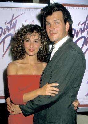 "Jennifer Grey and Patrick Swayze attend the premiere of ""Dirty Dancing"" at the Gemini Theater in New York City, on August 17, 1987 -- WireImage"