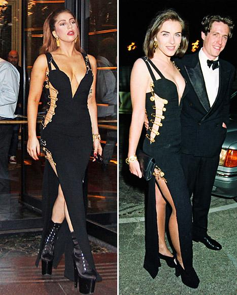 Who Wore Versace's Safety Pin Dress Best: Lady Gaga or Elizabeth Hurley?