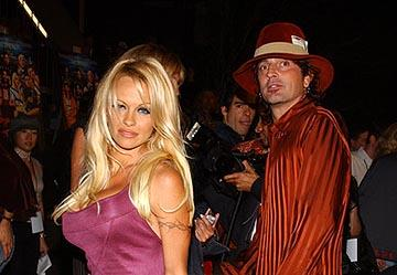 Premiere: Pamela Anderson and Tommy Lee at the LA premiere of Dimension's Scary Movie 3 - 10/20/2003