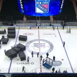 Basketball to Hockey time-lapse at MSG