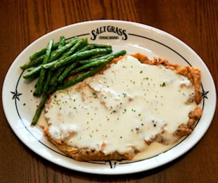 The Chicken-Fried Steak at Saltgrass Steak House in Houston, TX.