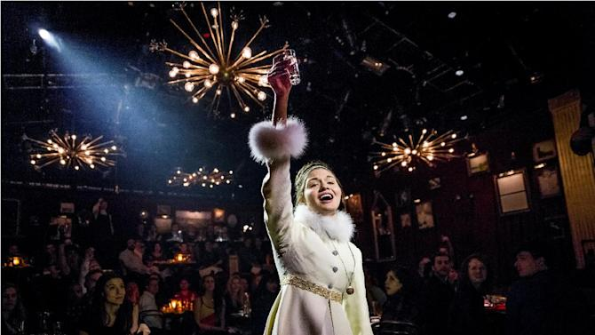 """This undated theater image released by The Hartman Group shows Phillipa Soo as Natasha in """"Natasha, Pierre and the Great Comet of 1812,"""" a dinner theater performance that opened Thursday, May 15, 2013 in the meatpacking district of New York. (AP Photo/The Hartman Group, Chad Batka)"""