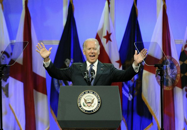 Vice President Joe Biden addresses the NAACP annual convention, Thursday, July 12, 2012, in Houston. (AP Photo/Pat Sullivan)
