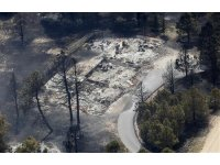 An aerial view of a destroyed house in the aftermath of the Black Forest Fire in Black Forest, Colorado
