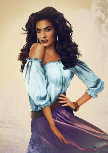 "We can understand why everyone is obsessed with Esmeralda, the stunning gypsy in ""The Hunchback of Notre Dame."""