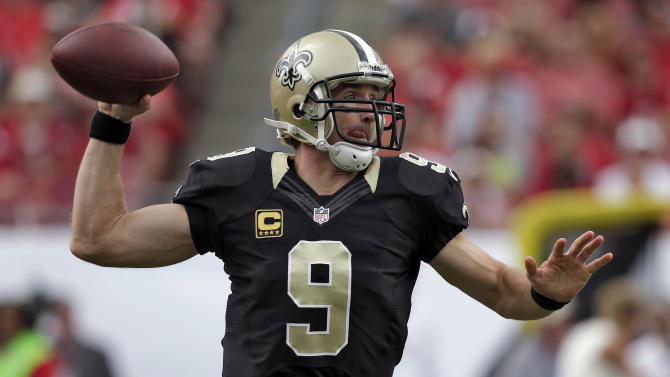 Brees aims to end Saints' red-zone drought