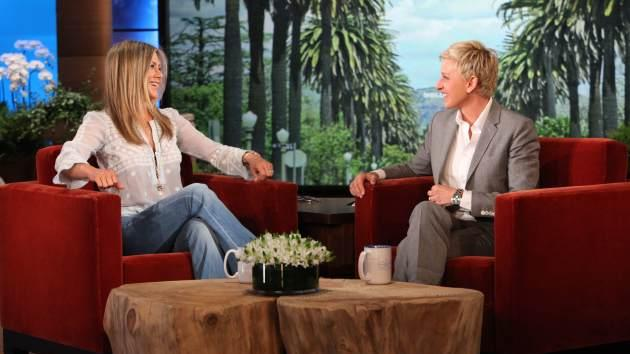 Jennifer Aniston makes an appearance on 'The Ellen DeGeneres Show' on April 18, 2013  -- Michael Rozman/Warner Bros.