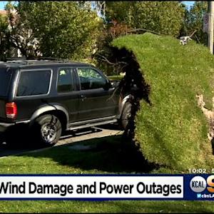 Strong Winds Leave Thousands Without Power On Christmas Day