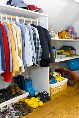 Clean out the kids' closets