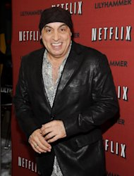 "FILE - In this Feb. 1, 2012 file photo, musician and actor Steven Van Zandt attends the premiere of a Netflix original series ""Lilyhammer"" at the Crosby Street Hotel in New York. Van Zandt has found a way to repay The Rascals for their influence on his music by taking the original four-man band to their biggest and most unlikely stage, on Broadway. The reunited band will play 15 performances at the Richard Rodgers Theatre beginning in April 2013, a show combining live performance, video reenactments, archival concert and news footage, op-art backdrops and psychedelic lighting. (AP Photo/Evan Agostini, File)"