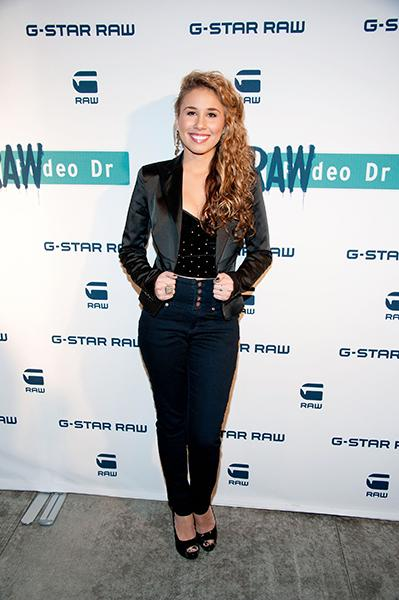 At the G-Star Denim store opening in L.A. last December
