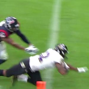 Baltimore Ravens wide receiver Torrey Smith's 20-yard touchdown
