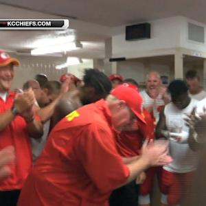 Kansas City Chiefs celebrate last-second victory