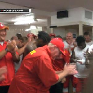 Kansas City Chiefs celebrate last-second victory