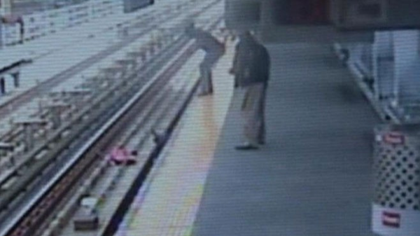 Baby in Stroller Falls Onto Subway Tracks, Mom Saves Child