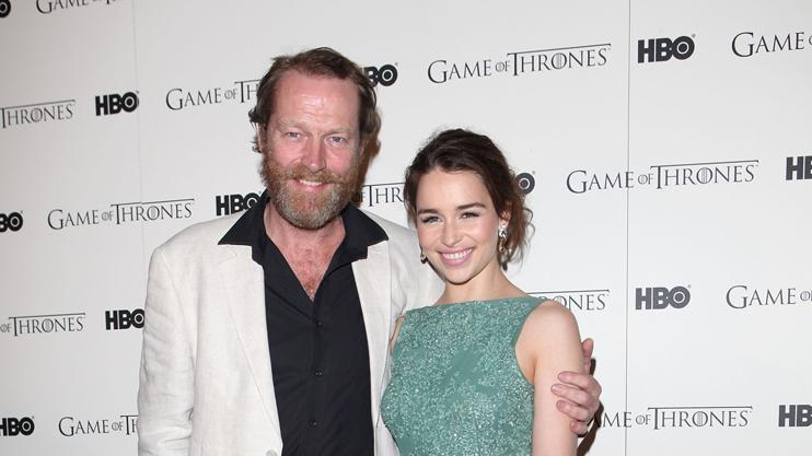 Iain Glen and Emilia Clarke