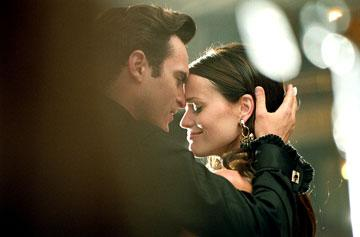 Joaquin Phoenix as Johnny Cash and Reese Witherspoon as June Carter in 20th Century Fox's Walk the Line