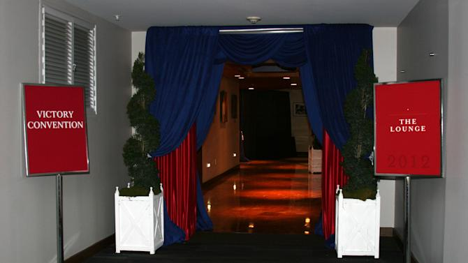 This is the entrance to one of the lounges in the upper floors of the forum at the Republican National Convention, on Monday Aug. 27, 2012. (Torrey AndersonSchoepe)