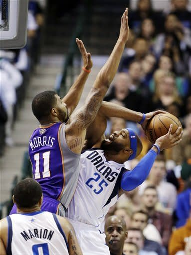 Marion, Nowitzki lead Mavericks past Suns, 110-95