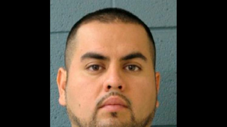 This undated photo provided by the Burbank, Ill., police department shows Arnoldo Jimenez. Police in the Chicago suburb of Burbank said that they are searching for Jimenez, the newlywed husband of 26-year-old Estrella Carrera, whose body was found stabbed and clothed in the silver sequin cocktail dress she wore at her wedding reception. (AP Photo/Burbank Police Department)