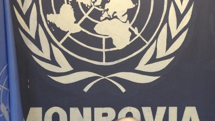 Senior U.N. System Coordinator for Ebola David Nabarro talks during a news conference at the U.N. headquarters in Monrovia