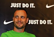 Oscar Pistorius at a press conference in Daegu in 2011. Nike has suspended its contract with Oscar Pistorius, a spokesman for the US sportswear giant says as the South African Paralympics star fights charges of murdering his girlfriend