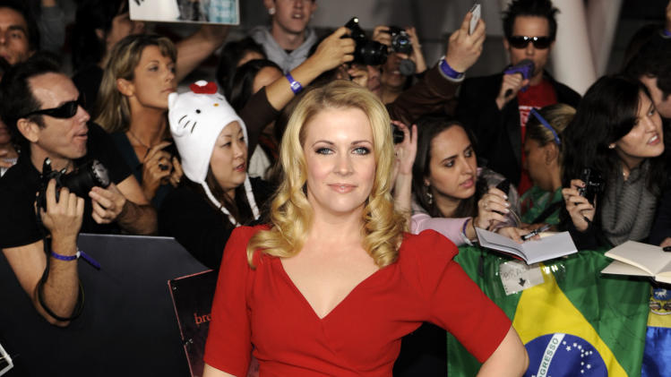 "Melissa Joan Hart arrives at the world premiere of ""The Twilight Saga: Breaking Dawn - Part 1"" on Monday, Nov. 14, 2011, in Los Angeles. (AP Photo/Chris Pizzello)"